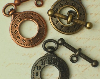 SALE 1 Clock Toggle Clasp - 25mm - Authentic TierraCast - Made in the USA - You Choose Finish - 100% Guarantee