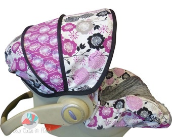 Infant Car Seat Cover Andrea Victoria Purple