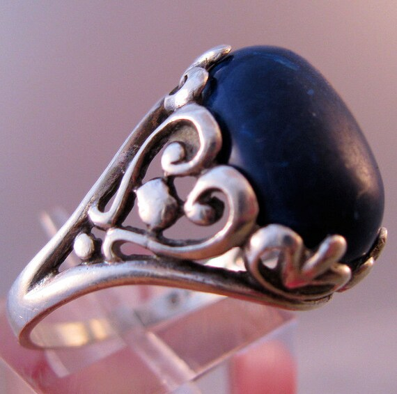 KABANA Designer Ring Blue Lapis Sterling by BrightEyesTreasures