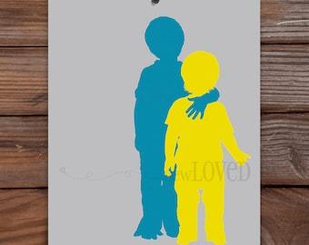 "Custom Art: Full Figure Silhouettes (8""x10"")"