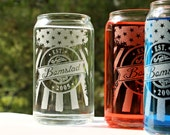 Soda or Beer Can Drinking Glasses,16oz Patriotic American Flag w/ Personalized Name logo & Est Date,Wedding Gift,Couples Gift, Summer