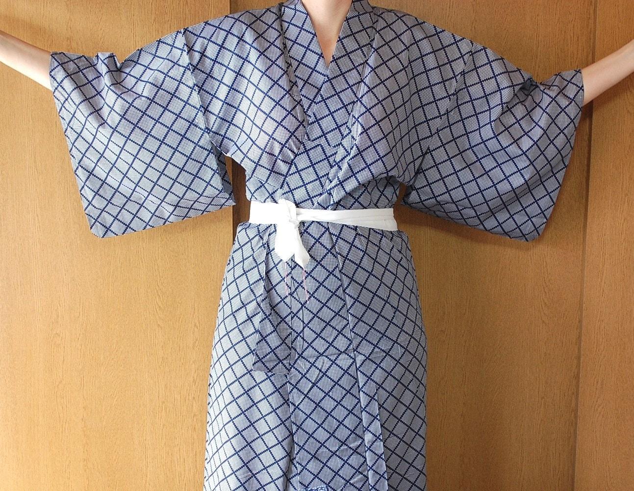 Yukata Japanese Cotton Kimono Robe Loungewear Dressing Gown