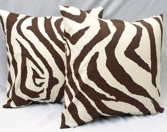 sale 15 decorative throw pillow covers pair of two 20 x 20 brown chocolate natural