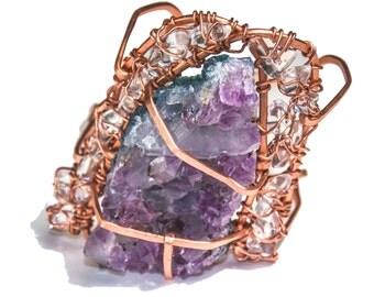 Amethyst crown jewel cuff
