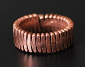Steampunk Piano String Ring, Hammered Flat, Band Style, Nearly Any Size