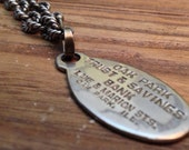 Vintage Charge Coin on Heavy Sterling Silver Necklace