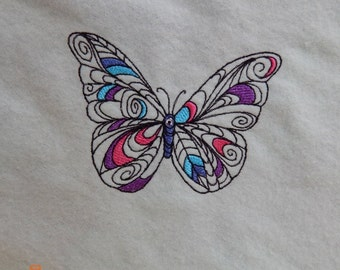 Bright Colors Butterfly Baby Blanket