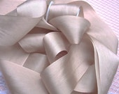 Pure Silk Ribbon Blush/Bisque  Color 1  inch wide 5 yard Spool