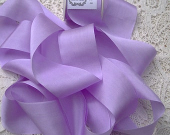 Pure Silk Ribbon French/Lilac Color 1 1/2 inch  36mm wide 5 yards ON SALE FOR Limited Time