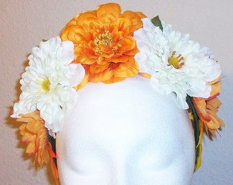 Bonita- bright mango and white - festival, fairy, costume, wedding