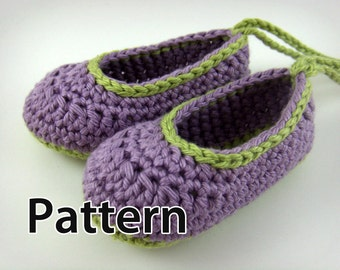 Crochet Baby Shoes Pattern - Baby Booties, crochet pattern baby shoes, crochet baby booties, crochet baby flats, crochet pattern baby