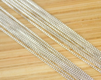 30 inch Sterling Silver Box Chain