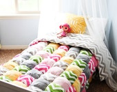 Twin Size or Larger Puff Quilt Pattern PDF File