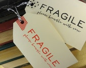 Fragile Self Inking Rubber Stamp - Mail / Package Stamp - Postal Stamp - Business Shop Stamp - Modern - Simple - Classic - Packaging