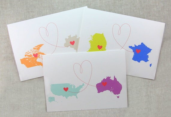 Personalized Countries and Love card (1 card)