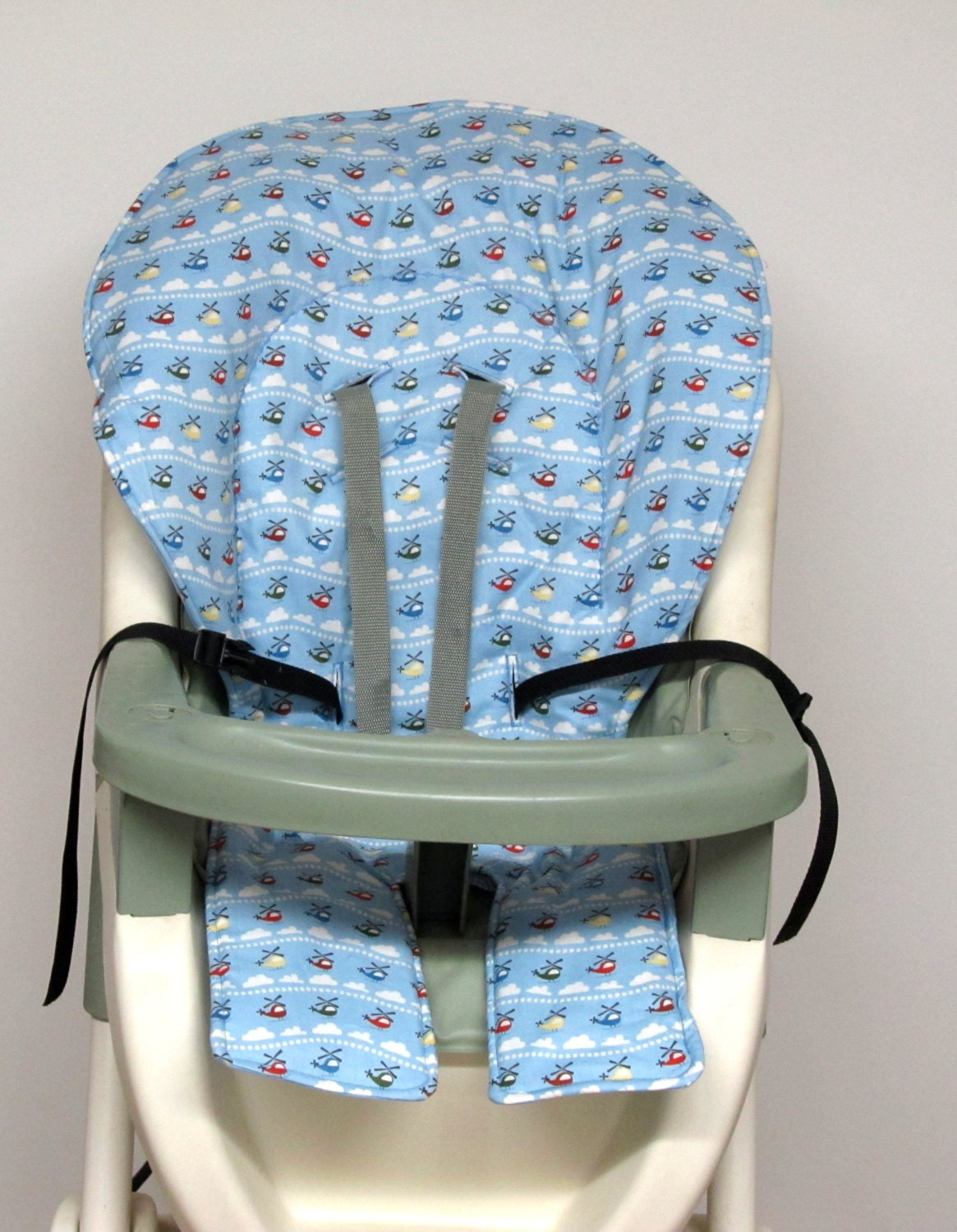 Graco High Chair Cover Pad Replacement Helicopters On Blue