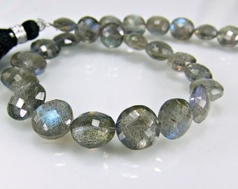Labradorite Coin Beads AAA Micro Faceted Gemstone Beads
