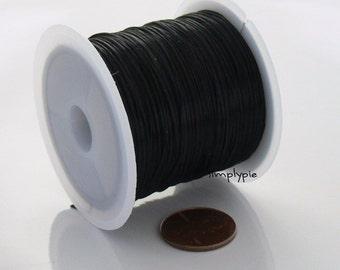 50 FEET 0.5mm Black Stretch Floss Elastic Cord