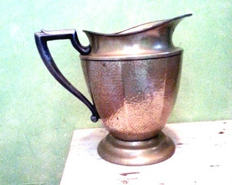 Vintage Hammered Pitcher, Barware