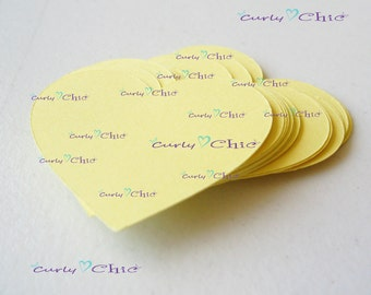 "40 Hearts Tags Size 2"" -Hearts die cuts -Paper Hearts tags -Cardstock Hearts die cuts -Paper Hearts labels -Paper tags -Custom die cuts"