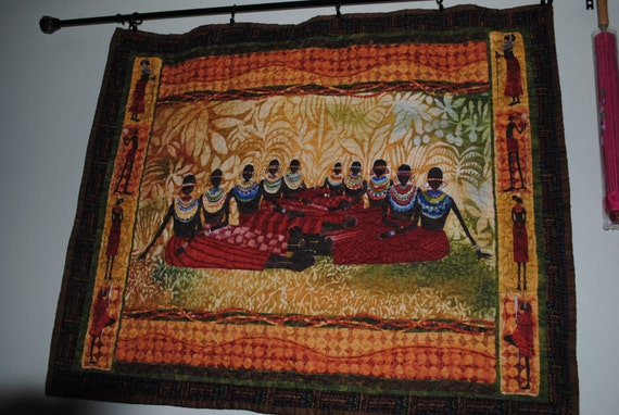 SAFARI WOMEN WALL Hanging      This item is reserved for (Pattyepece) until Feb. 3rd, 2014