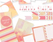 Pastel Glitch Project Life Printable Journal Cards