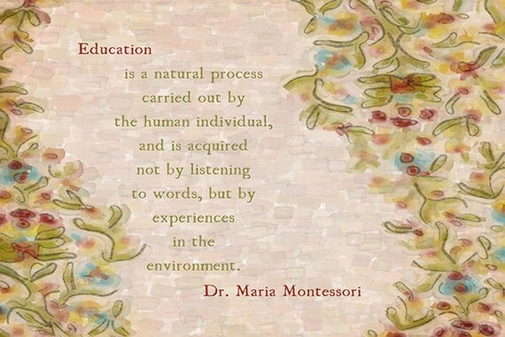 Montessori Education Fine Art Print Free Shipping By Kokabella