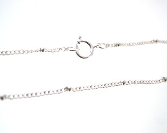 High Quality Satellite / Saturn Chain 2 mm Curb Sterling Silver Chain 20 Inches - QTY 2