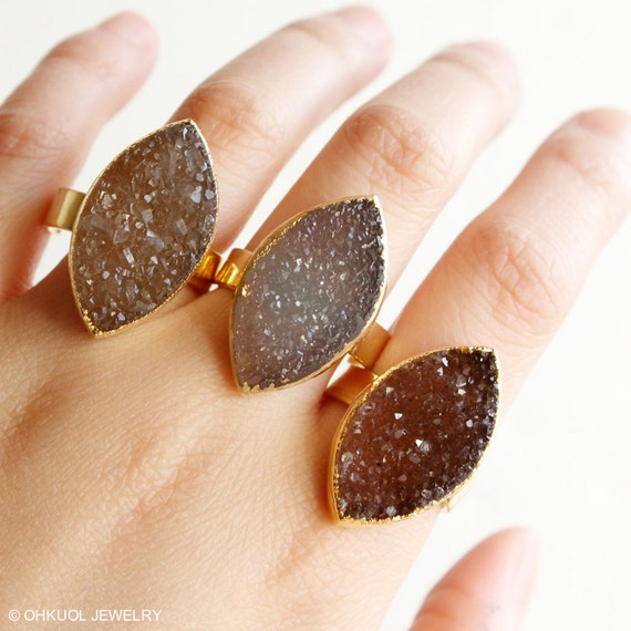 Brown Sugar Agate Druzy Rings Leaf Shape Stone Adjustable. Cadenza Engagement Rings. Branded Wedding Rings. Fashion Blogger Wedding Rings. Uniquely Wedding Rings. Dark Green Engagement Rings. Baby Foot Rings. Solitair Wedding Rings. Diana Wedding Rings