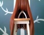 CLEARANCE - Pumpkin Spice - Dark Orange Layerless Superlong Wig - FREE SHIPPING