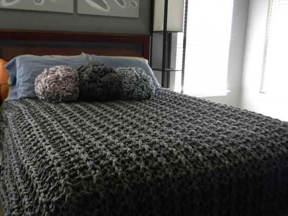Knitting Pattern For Super Chunky Blanket : Giant Super Chunky Knit Blanket pattern - Pattern Only - permission to sell w...