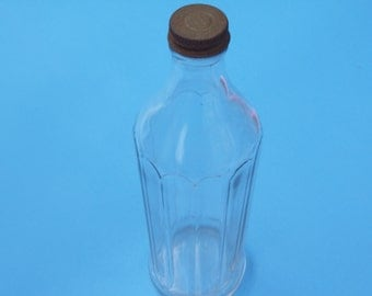 Vintage Scalloped Sided Bottle with Twist Off Cap