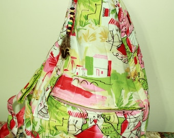 Hand Crafted By Maggie -Beauitful  Upcycled  Sidepack-One of  a Kind.New  Sale