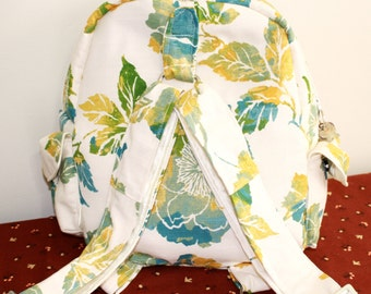Hand Crafted By Maggie  Backpack-Book bag-Messenger bag - Spring Sale.