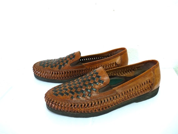 Leather Loafers For Men Mens Woven Leather Shoes Duke