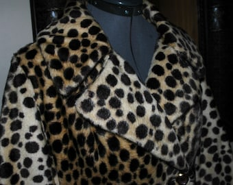 Vintage 1960's Faux Leopard Coat by Safari