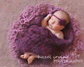 baby blanket KNITTING PATTERNS - newborn photography props - 'open lace wrap'