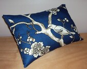 Dwell Studio Blossom Deep Blue Decorative Lumbar Pillow Cover - Available In 3 Sizes