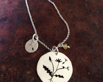 Dandelion Charm Necklace