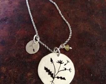 Dandelion Charm Necklace