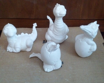 Ready to Paint Baby Dino Set of 4