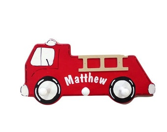 Firetruck Coat Rack by Pookie Boutique