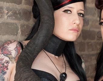 """Mini Black Raven Skull Necklace (2.75"""" Small) - Resin Cast Skull Gift Idea Taxidermy Crow Goth Bird Skull"""