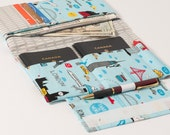 Family Passport Holder - holds 4 passports and all your travel documents - by BlissfulSew
