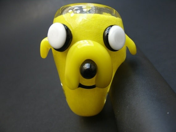 Adventure Time Jake the Dog Pocket Sherlock Glass Pipe