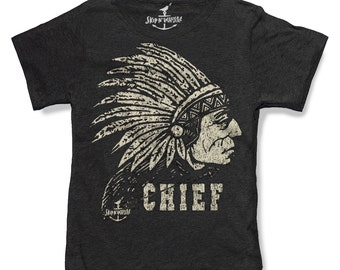 Toddler kids t shirt - INDIAN CHIEF HEADDRESS --  (7 color choices) Size 2t, 3t, 4t, youth xs, yth sm, yth med, yth lg skip n whistle