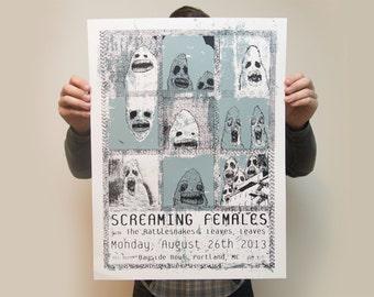 Screaming Females Screen printed Poster