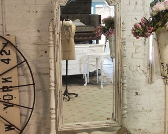 Painted Cottage Chic Shabby White French Mirror MR07