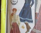 Vintage Gunne Sax Pattern, Skirt, Blouse, Jacket, Size 10, Simplicity 5491