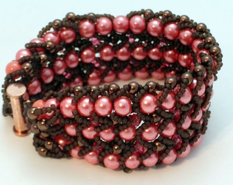 Orange and Brown RAW Bracelet